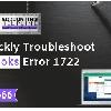 Reasons That Cause QuickBooks Error 1722