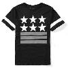 大人気アイテム GIVENCHY ジバンシー メンズ 半袖Tシャツ 五つ星プリント ブラック.
